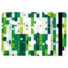 Generative Art Experiment Rectangular Circular Shapes Polka Green Vertical Ipad Air 2 Flip by Mariart