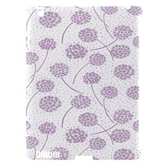 Purple Tulip Flower Floral Polkadot Polka Spot Apple Ipad 3/4 Hardshell Case (compatible With Smart Cover) by Mariart