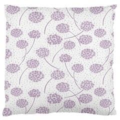 Purple Tulip Flower Floral Polkadot Polka Spot Large Flano Cushion Case (one Side) by Mariart