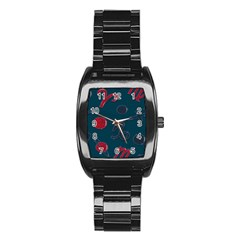 Zodiac Signs Planets Blue Red Space Stainless Steel Barrel Watch by Mariart