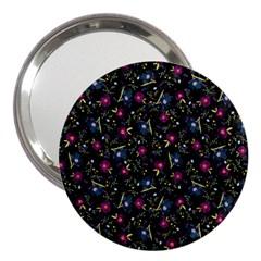 Floral Pattern 3  Handbag Mirrors by ValentinaDesign