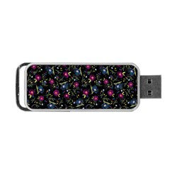 Floral Pattern Portable Usb Flash (two Sides) by ValentinaDesign