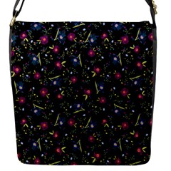 Floral Pattern Flap Messenger Bag (s) by ValentinaDesign