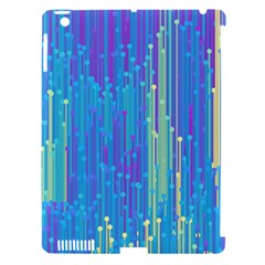 Vertical Behance Line Polka Dot Blue Green Purple Apple Ipad 3/4 Hardshell Case (compatible With Smart Cover) by Mariart