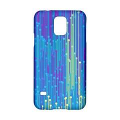 Vertical Behance Line Polka Dot Blue Green Purple Samsung Galaxy S5 Hardshell Case  by Mariart