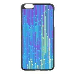 Vertical Behance Line Polka Dot Blue Green Purple Apple Iphone 6 Plus/6s Plus Black Enamel Case by Mariart