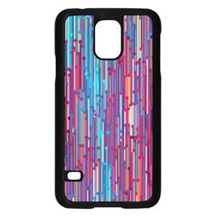 Vertical Behance Line Polka Dot Blue Green Purple Red Blue Black Samsung Galaxy S5 Case (black) by Mariart