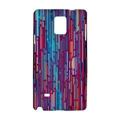 Vertical Behance Line Polka Dot Blue Green Purple Red Blue Black Samsung Galaxy Note 4 Hardshell Case by Mariart
