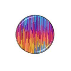 Vertical Behance Line Polka Dot Blue Red Orange Hat Clip Ball Marker by Mariart