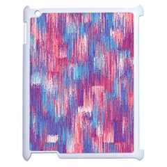 Vertical Behance Line Polka Dot Blue Green Purple Red Blue Small Apple Ipad 2 Case (white) by Mariart
