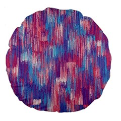 Vertical Behance Line Polka Dot Blue Green Purple Red Blue Small Large 18  Premium Flano Round Cushions by Mariart