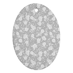 Floral Pattern Ornament (oval) by ValentinaDesign