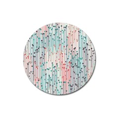 Vertical Behance Line Polka Dot Grey Pink Magnet 3  (round) by Mariart