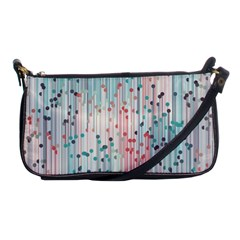Vertical Behance Line Polka Dot Grey Pink Shoulder Clutch Bags by Mariart