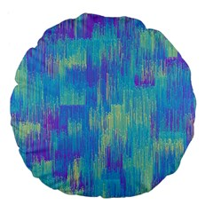 Vertical Behance Line Polka Dot Purple Green Blue Large 18  Premium Flano Round Cushions by Mariart