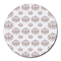 Dot Lotus Flower Flower Floral Round Mousepads by Mariart