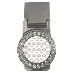 Dot Lotus Flower Flower Floral Money Clips (cz)  by Mariart