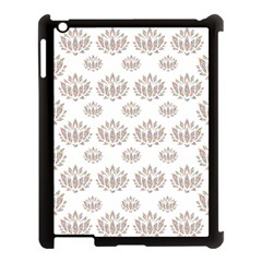 Dot Lotus Flower Flower Floral Apple Ipad 3/4 Case (black) by Mariart