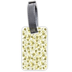Floral Pattern Luggage Tags (one Side)  by ValentinaDesign