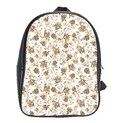 Floral Pattern School Bags (xl)  by ValentinaDesign
