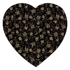 Floral Pattern Jigsaw Puzzle (heart) by ValentinaDesign