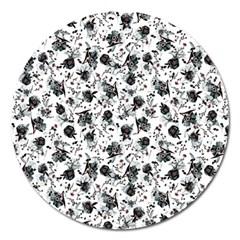 Floral Pattern Magnet 5  (round) by ValentinaDesign