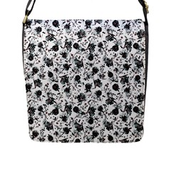 Floral Pattern Flap Messenger Bag (l)  by ValentinaDesign