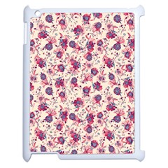 Floral Pattern Apple Ipad 2 Case (white) by ValentinaDesign