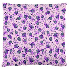 Floral Pattern Large Flano Cushion Case (one Side) by ValentinaDesign