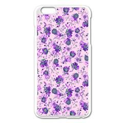 Floral Pattern Apple Iphone 6 Plus/6s Plus Enamel White Case by ValentinaDesign