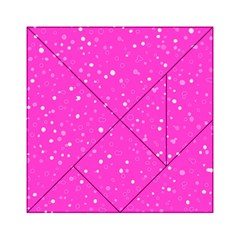 Dots Pattern Acrylic Tangram Puzzle (6  X 6 ) by ValentinaDesign