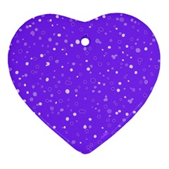 Dots Pattern Heart Ornament (two Sides) by ValentinaDesign