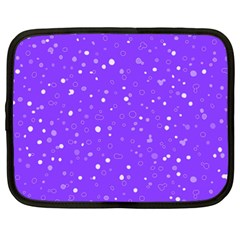Dots Pattern Netbook Case (large) by ValentinaDesign