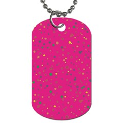 Dots Pattern Dog Tag (two Sides) by ValentinaDesign