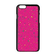 Dots Pattern Apple Iphone 6/6s Black Enamel Case by ValentinaDesign