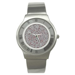 Dots Pattern Stainless Steel Watch by ValentinaDesign