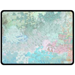 Pastel Garden Double Sided Fleece Blanket (large)  by theunrulyartist