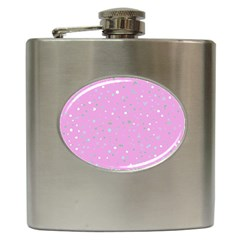 Dots Pattern Hip Flask (6 Oz) by ValentinaDesign