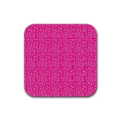 Abstract Art  Rubber Square Coaster (4 Pack)  by ValentinaDesign