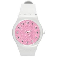 Abstract Art  Round Plastic Sport Watch (m) by ValentinaDesign