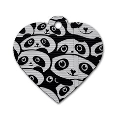 Panda Bg Dog Tag Heart (Two Sides)