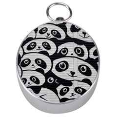 Panda Bg Silver Compasses by TailWags
