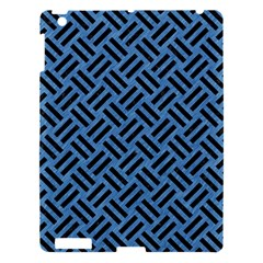 Woven2 Black Marble & Blue Colored Pencil (r) Apple Ipad 3/4 Hardshell Case by trendistuff
