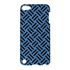 Woven2 Black Marble & Blue Colored Pencil (r) Apple Ipod Touch 5 Hardshell Case by trendistuff