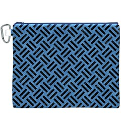 Woven2 Black Marble & Blue Colored Pencil (r) Canvas Cosmetic Bag (xxxl) by trendistuff