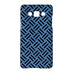 Woven2 Black Marble & Blue Colored Pencil (r) Samsung Galaxy A5 Hardshell Case  by trendistuff