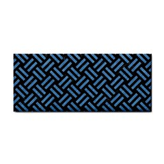 Woven2 Black Marble & Blue Colored Pencil Hand Towel by trendistuff