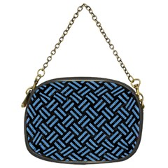 Woven2 Black Marble & Blue Colored Pencil Chain Purse (two Sides) by trendistuff