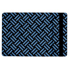 Woven2 Black Marble & Blue Colored Pencil Apple Ipad Air Flip Case by trendistuff