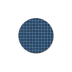 Woven1 Black Marble & Blue Colored Pencil (r) Golf Ball Marker (10 Pack) by trendistuff